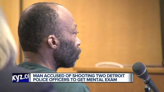 Man accused of shooting two Detroit police officers to get mental exam