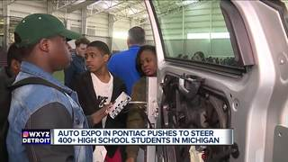 Teens spend the day with auto executives