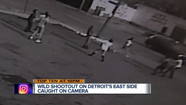Wild shootout on Detroit-s east side caught on camera