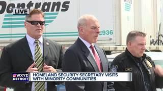 Secretary of Homeland Security visits Detroit