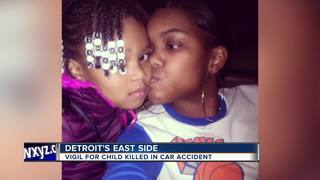 Girl killed in car accident remember at vigil