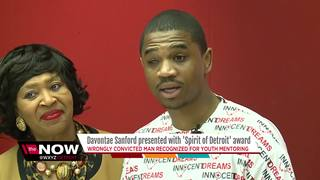 Sanford recognized with Spirit of Detroit award