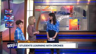 Michigan students learning to code with drones