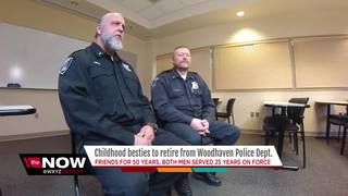 Lifelong friends, Woodhaven cops retire together