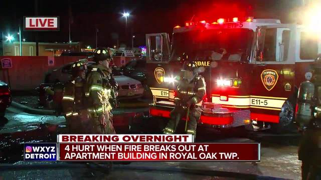 4 people injured in Royal Oak Twp. fire