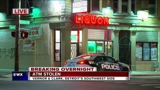 ATM stolen from Detroit liquor store