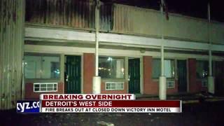 Fire tears through shuttered Victory Inn motel