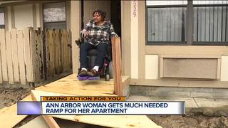 Disabled Ann Arbor woman gets ramp built