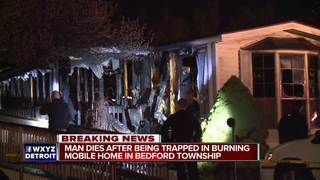 Explosions heard during deadly mobile home fire
