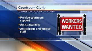 Courtroom clerk needed in Livingston County