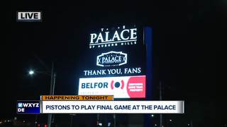 Detroit Pistons to play final game at the Palace