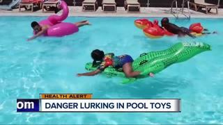 Potentially hazardous substances in pool toys