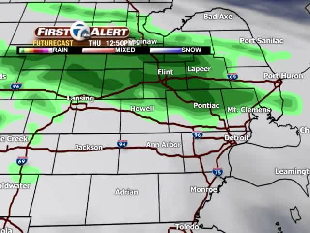 Slight chance for rain Easter Sunday