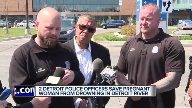 Officers, mail boat rescue pregnant woman from Detroit River
