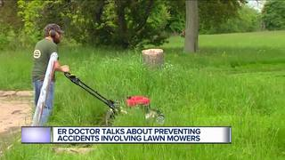 Metro Detroit ER doctor warns about lawn mowers