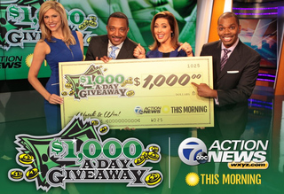 ENTER TO WIN: $1,000-A-Day Giveaway