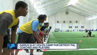 Lions' Slay hosts camp for PAL football players