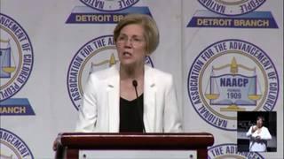 Sen. Elizabeth Warren speaks at Detroit NAACP