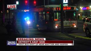 DDOT bus hit by bullets, police say