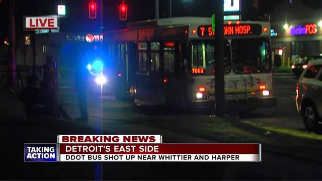 DDOT bus hit by bullet on Detroit-s east side- police say