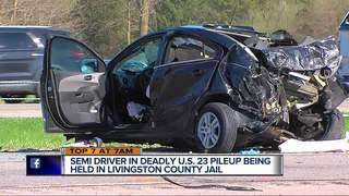 Truck driver in jail after fatal US-23 crash