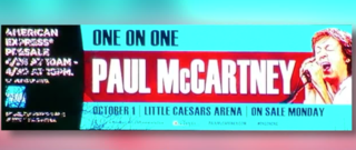 Paul McCartney coming to Detroit in October