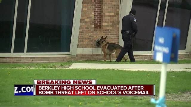 Berkley High School closed after bomb threat
