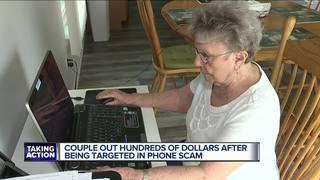 Elderly couple swindled in phone scam