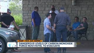 High levels of CO force hotel evacuation in Novi