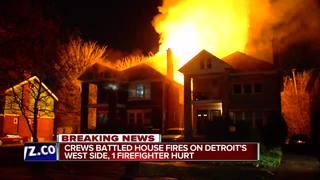 Detroit firefighter injured battling house fire