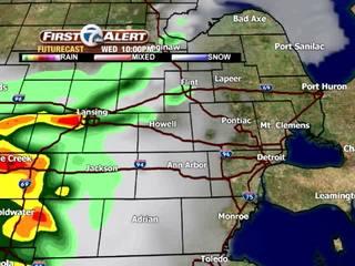 FORECAST: Near 80 today, storms Thursday