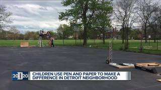 Pistons help students get new basketball court