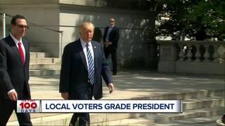 Local voters grade Trump's 100 days
