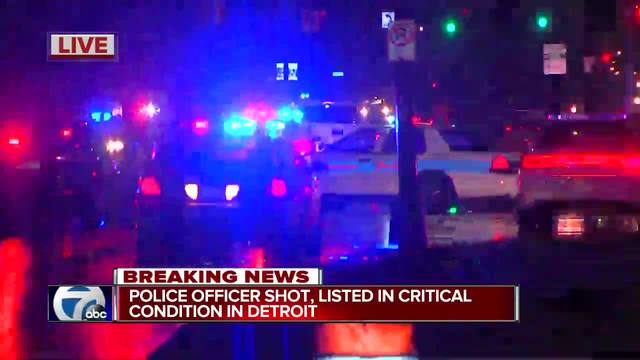 Detroit police officer in critical condition after being shot; Suspect killed