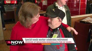 McDonald's honors man with Down Syndrome