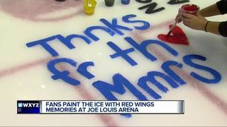 Red Wings fans paint ice at JLA to say farewell