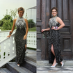 Michigan teen sports mom's dress to prom