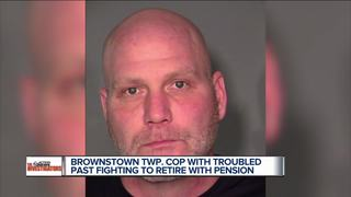 Troubled cop retires; pension in question