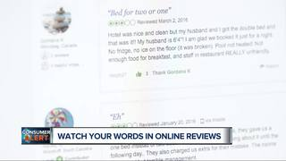 Watch what you say in online reviews