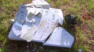 Vandals destroy headstones dating back to 1800s