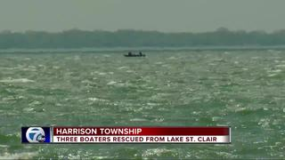 3 rescued after capsizing in Lake St. Clair