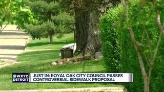 Sidewalk proposal passes in Royal Oak