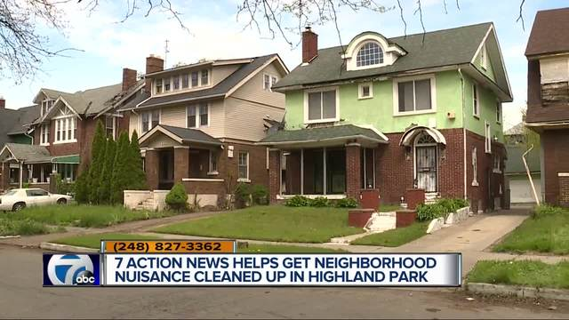 7 Action News helps get neighborhood nuisance cleaned up in Highland Park