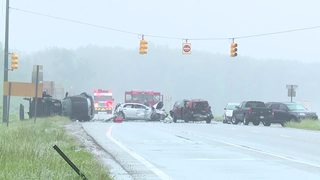 3 critial after 10-car crash in Washington Twp.
