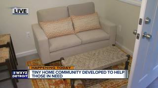 Tiny home community built to help those in need