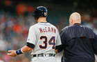 Tigers C McCann placed on DL with lacerated hand