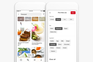 Pinterest rolls out new food search features