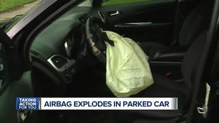 Dodge Journey airbag goes off in driveway