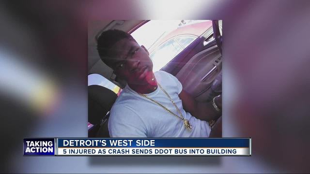 Detroit teen-s family says he did not cause crash with DDOT bus that hurt 5