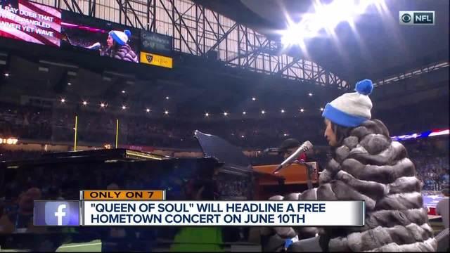Aretha Franklin speaks about headlining Detroit Music Weekend
